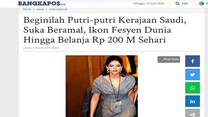 Gambar Tangkapan Layar Artikel dari Situs bangka.tribunnews.com