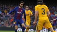 Andre Gomes merasa tertekan karena sampai saat ini belum mampu memberikan penampilan sesuai dengan harapan para suporter Barcelona. (AFP/Pau Barrena)