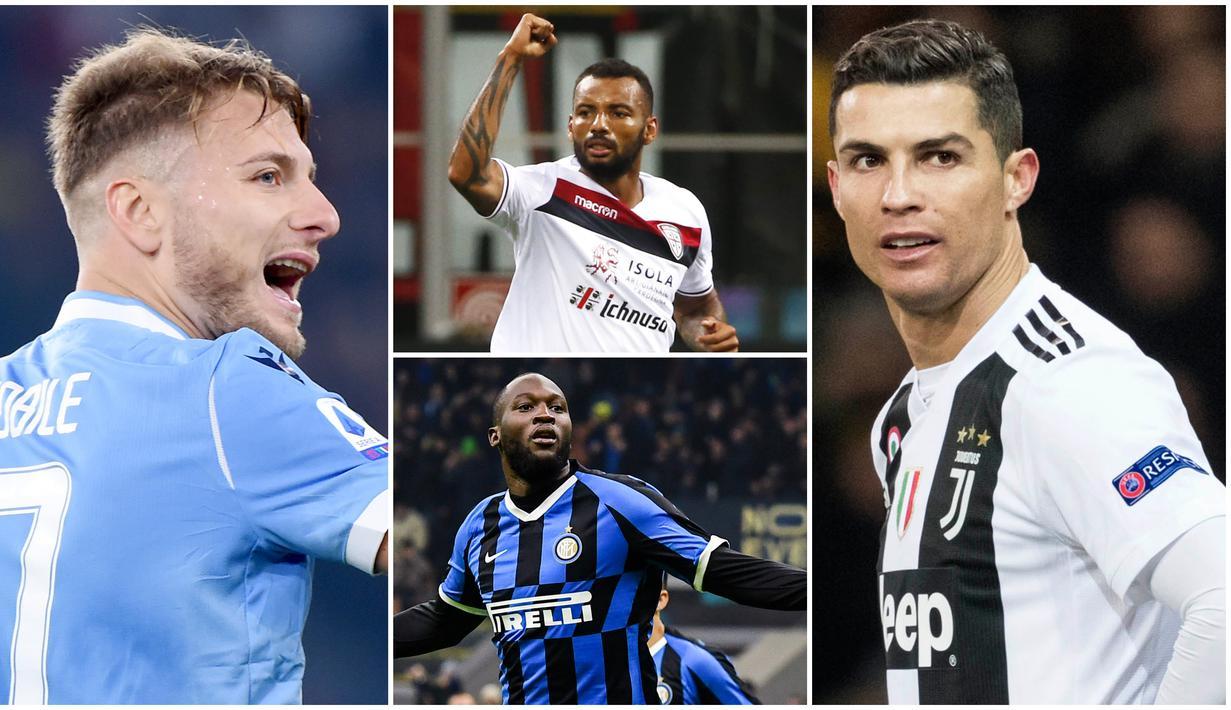 Berikut ini daftar topskor sementara Serie A Italia. Ciro Immobile di posisi pertama dengan koleksi 27 gol sementara bintang Juventus di urutan kedua dengan 21 gol.