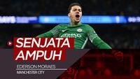 Berita video Ederson Moraes, yang menjadi senjata ampuh Pep Guardiola saat Manchester City mengalahkan Schalke 3-2 pada leg I babak 16 Besar Liga Champions 2018-2019, Rabu (20/2/2019).