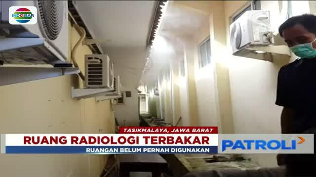 Jumat (2/3) pagi ruang radiologi RSUD Doktor Sukardjo, Kota Tasikmalaya, Jawa Barat, terbakar. Sebelum kebakaran sempat terdengar suara ledakan di dalam ruangan.