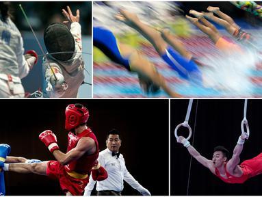 Berikut ini kumpulan momen menarik perhelatan akbar Asian Games sepanjang hari Kamis 23 Agustus 2018. (Kolase Foto-foto Bola.com)