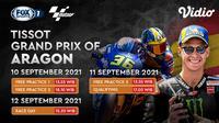 Link Live Streaming MotoGP 2021 Aragon 2021 Akhir Pekan Ini di Vidio, 10-12 September 2021. (Sumber : dok. vidio.com)