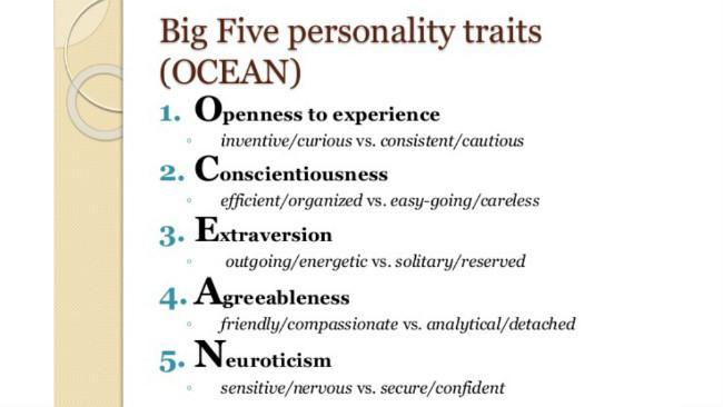 The Big Five. (Sumber Slide Share)