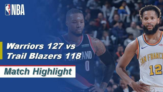 Berita Video Highlights NBA 2019-2020, Golden State Warriors Vs Portland Trail Blazers 127-118