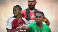 Liga 1 - Boaz Solossa, Ricardo Salampessy , Firman Utina (Bola.com/Adreanus Titus)
