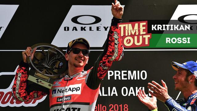 Berita video Time Out kali ini tentang Valentino Rossi yang mengkritik keputusan Jorge Lorenzo di MotoGP.