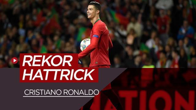 Berita video Cristiano Ronaldo mencetak hattrick ke-53 sepanjang karier.