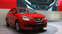 Tampilan mobil terbaru dari Suzuki Baleno yang dipamerkan dalam ajang Gaikindo Indonesia International Auto Show (GIIAS) 2017, di ICE, BSD, Tangerang Selatan, Kamis (10/8). (Liputan6.com/Angga Yuniar)