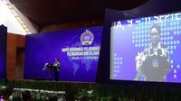Menteri Luar Negeri RI Retno Marsudi saat membuka Rapat Koordinasi Pelayanan Publik dan Perlindungan WNI di Luar Negeri, di Jakarta, Senin 9 September 2019 (Rizki Akbar Hasan / Liputan6.com)