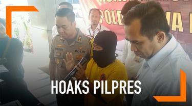 Akibat menyebarkan hoaks saat pilpres lalu, seorang pria ditangkap polisi. Ia menyebut jika rapat pleno perhitungan C1 di Plumbon tertutup. Padahal faktanya, rapat berlangsung terbuka.