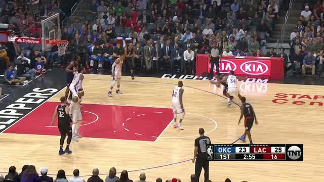 Berita video game recap NBA 2017-2018 antara Oklahoma City Thunder melawan LA Clippers dengan skor 127-117.
