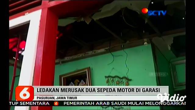 Rumah Saeri di Dusun Ngepoh, Desa Pasrepan, Kecamatan Pasrepan, Kabupaten Pasuruan, Jawa Timur, terbakar. Rumah tersebut digunakan untuk pembuatan mercon atau petasan.