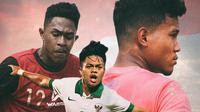 Timnas Indonesia - Bagas Kaffa, Braif Fatari, Andre Oktaviansyah (Bola.com/Adreanus Titus)