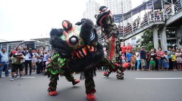 Warna Warni Budaya Indonesia Saat Karnaval Cap Go Meh 2018 di Kawasan Glodok