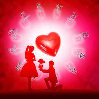 Ilustrasi zodiak percintaan (iStockphoto)