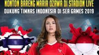 Timnas Indonesia U-22 Dapat Dukungan Langsung Maria Ozawa di SEA Games 2019 (Instagram)