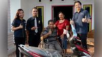 Togap Julius Simanjuntak dari Medan, salah satu pemenang sepeda motor dari Undian FantasTix Point yang digelar Tiket.com