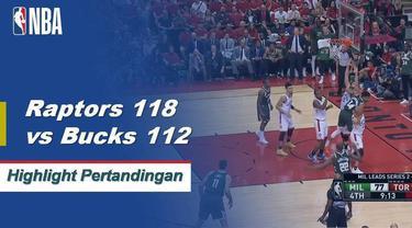 Kawhi Leonard mencetak 36 poin dan Pascal Siakam menambahkan 25 poin ketika Raptors mengalahkan Bucks untuk memperkecil kedudukan, 2-1.