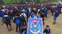 10 ribu Bobotoh serbu Palembang (Okan Firdaus/Liputan6.com)