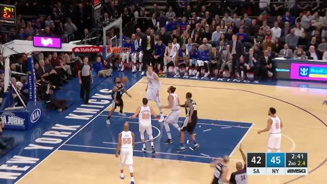 Berita video game recap NBA 2017-2018 antara San Antonio Spurs melawan New York Knicks dengan skor 100-91.