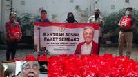 Bagikan sembako secara virtual, Sabam berada di kediamannya di kawasan Pesanggrahan Jakarta Selatan, sementara penerima berada di kawasan Menteng, Jakarta Pusat, Sabtu (30/5/2020). (Ist)