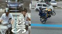 Aksi kocak orang tertangkap kamera Google Map. (Sumber: Twitter/@brbagood/@Che_Lahhh)