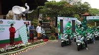 Grab resmi menghadirkan Kendaraan Bermotor Listrik (KBL) dan Stasiun Penukaran Baterai Kendaraan Listrik Umum (SPBKLU) di Bali. (Grab)