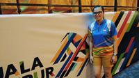 Atlet bowling putri Indonesia, termasuk Tannya Roumimper, gagal mendulang medali pada ajang SEA Games 2017, Minggu (20/8/2017). (Liputan6,com/Cakrayuri Nuralam)