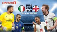 Banner Final Euro 2020 Italia vs Inggris (Liputan6.com/Abdillah)