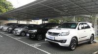 Untuk memberikan kemudahan bagi calon konsumen yang berniat menjual mobil lama, dan berganti mobil Toyota baru dengan tukar tambah, Auto2000 resmi memperkenalkan Toyota Trust. (Arief/Liputan6.com)