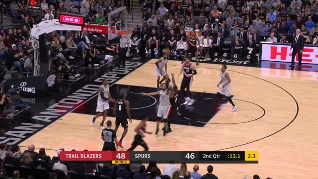 DeMar DeRozan memimpin Spurs dengan 21 poin dan delapan rebound untuk mengalahkan Trail Blazers, 108 - 103.