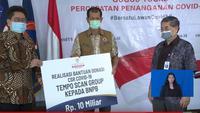 Donasi Tempo Scan Group pada BNPB untuk Atasi Wabah Corona Covid-19. foto: Youtube 'BNPB Indonesia'