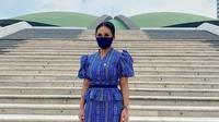 Krisdayanti makin rajin memerkenalkan kain tais Timor Leste dalam berbagai kesempatan, termasuk saat bekerja sebagai anggota DPR RI (Dok.Instagram/@krisdayantilemos/https://www.instagram.com/p/CBc6qGsghc4/Komarudin)