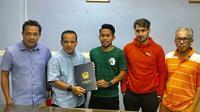 Andik Vermansah setelah menandatangani kontrak bersama Kedah FA. (Dok. Pribadi)