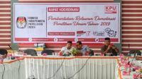 Rakor KIP Provinsi Aceh menindaklanjuti Program Relawan Demokrasi.(Www.sulawesita.com)