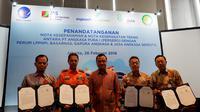 Ke-empat mitra tersebut yaitu Perusahaan Umum (Perum) Lembaga Penyelenggara Pelayanan Navigasi Penerbangan Indonesia (LPPNPI) atau AirNav Indonesia, Badan SAR Nasional (BASARNAS), PT Gapura Angkasa, dan PT Jasa Angkasa Semesta Tbk.