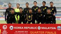 Timnas Malaysia U-23 saat tampil di Piala AFC U-23 awal 2018. (Bola.com/Dok. AFC)