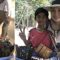 kisah bocah penjual souvenir bisa 10 bahasa (foto: Facebook Venus Gwc)