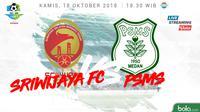 Liga 1 2018 Sriwijaya FC Vs PSMS Medan (Bola.com/Adreanus Titus)