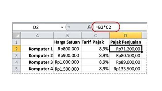 Cara Menghitung Persen Di Excel Mudah Dipraktikkan Tekno Liputan6 Com