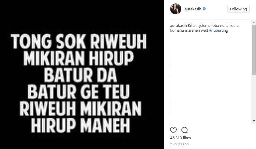 aura kasih marah pakai bahasa sunda sindir siapa showbiz