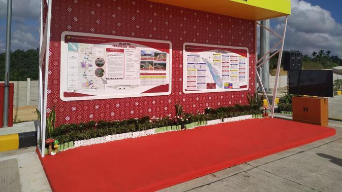 Gerbang tol Pekanbaru-Dumai ditargetkan beroperasi sebelum Lebaran 2020. (Liputan6.com/Athika Rahma)