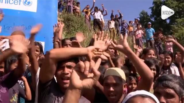 Ribuan penduduk Rohingya menggelar demonstrasi di Bangladesh. Mereka menolak dipulangkan ke Myanmar.