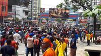 Massa pengunjuk rasa di Monokwari, Papua. (Kabar Papua)