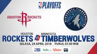 Houston Rockets Vs Minnesota Timberwolves_Game 4 (Bola.com/Adreanus Titus)