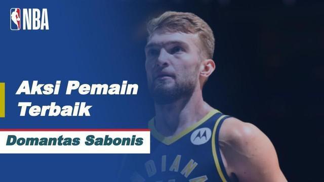 Berita video pemain terbaik NBA hari ini, Kamis (18/2/2021) WIB, yaitu bintang dari Indiana Pacers, Domantas Sabonis.