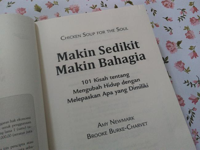 review buku chicken soup for the soul makin sedikit makin