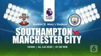 SOUTHAMPTON FC VS. MANCHESTER CITY FCN (Liputan6.com/Abdillah)