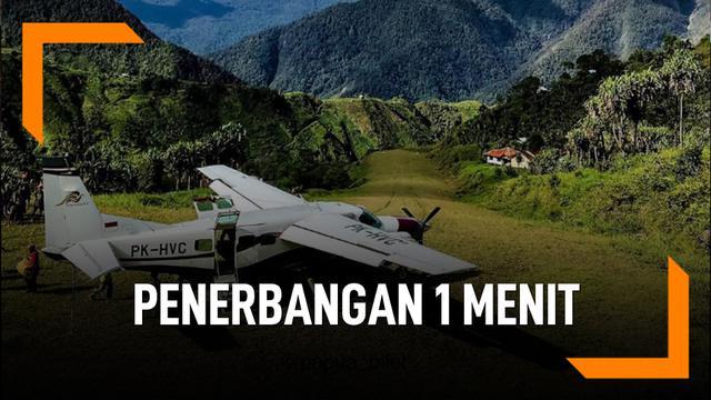 Rute Penerbangan Tersingkat di Indonesia Hanya 1 Menit